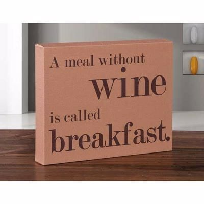 Picture of A Meal Without Wine 8x10 Message Cube