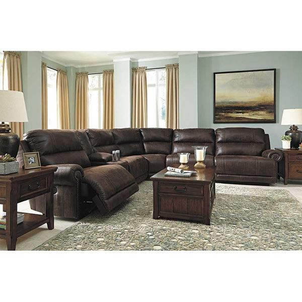 6 Piece Power Reclining Sectional  sc 1 st  AFW : power sectional - Sectionals, Sofas & Couches