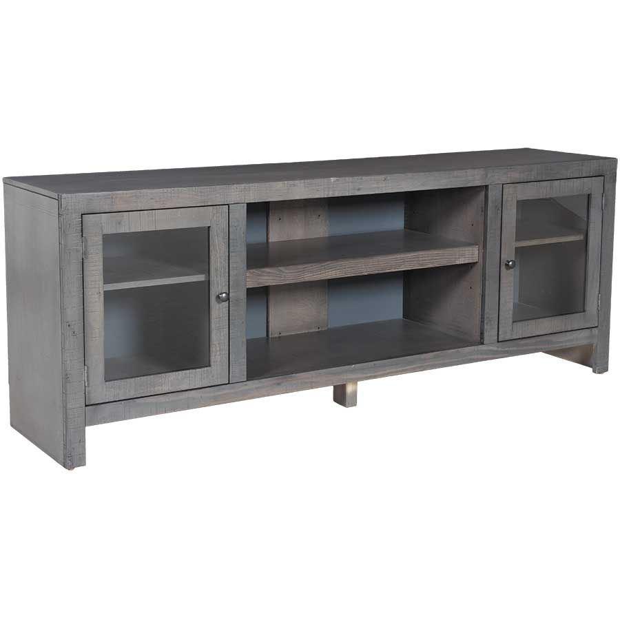 Del Mar 72 Tv Console In Rain Gray 72con Rg Whalen Furniture Afw