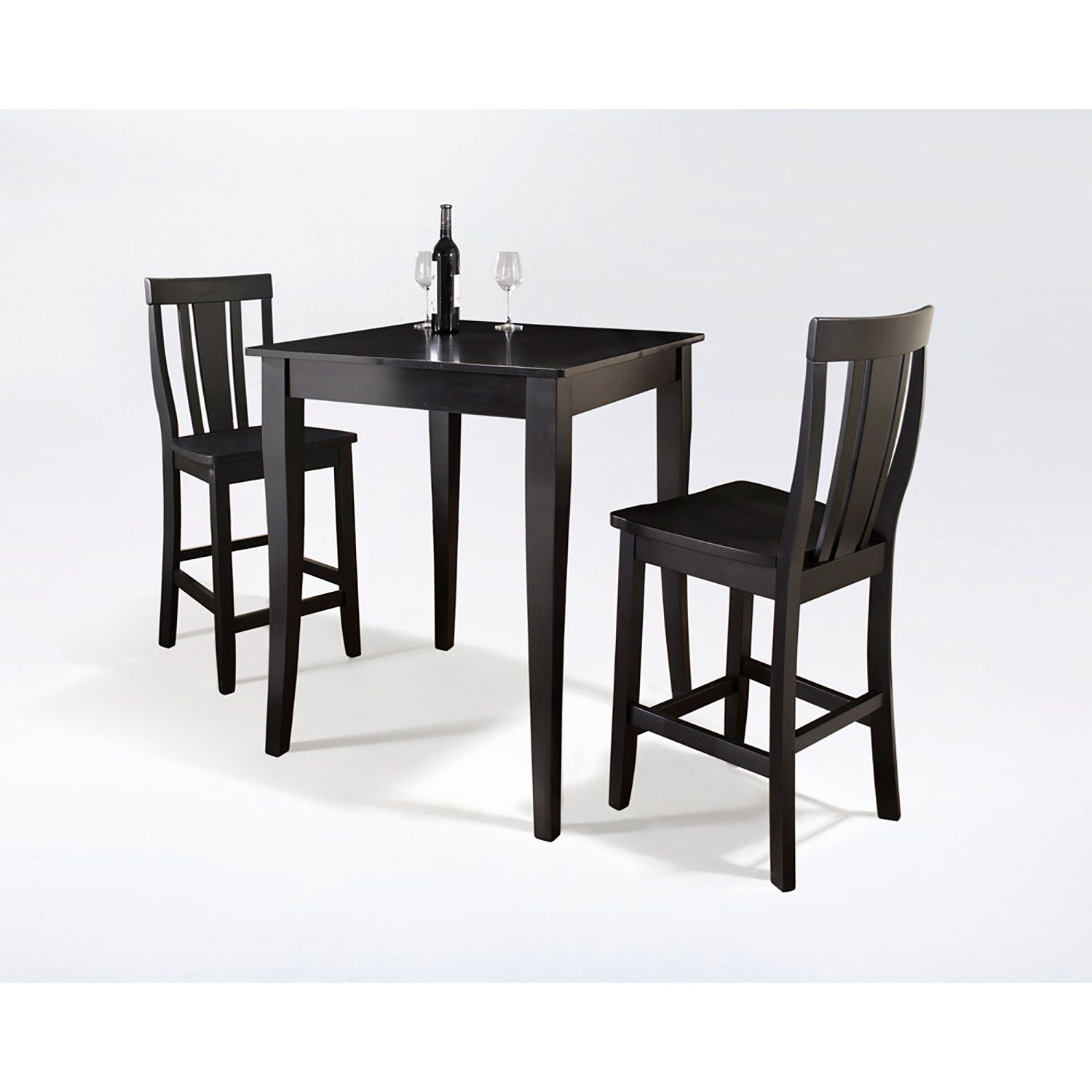 3 Piece Pub Dining Set Black D Kd320002bk Crosley
