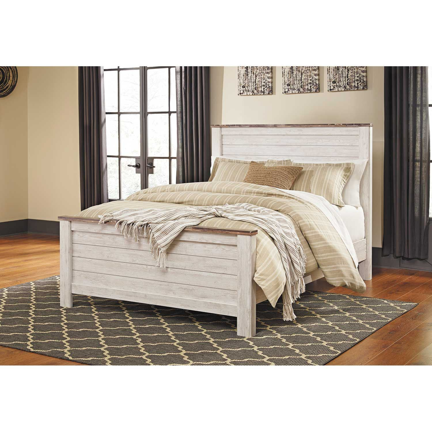 Wholesale Ashley Furniture: Willowton Queen Panel Bed B267-QPNLBED