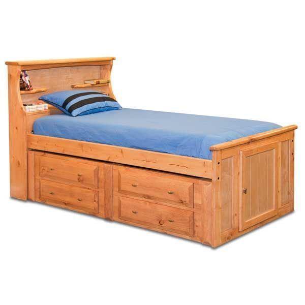 Laguna Full Bookcase Bed With Underbed Storage CA-FCAPT ...