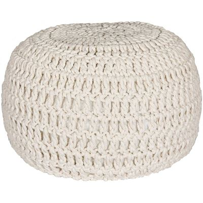 Picture of Ivory Cotton Rope Pouf