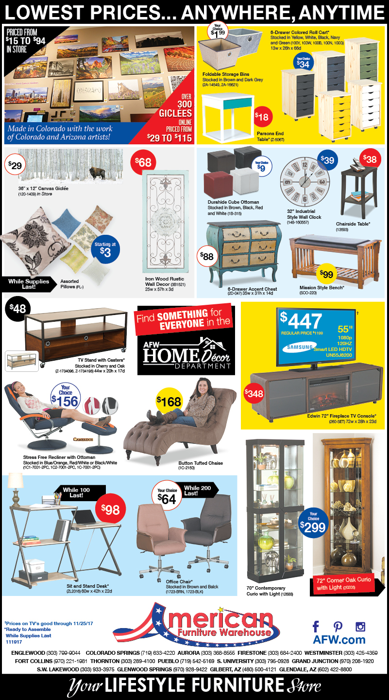 Best selection in Furniture Newspaper Ads | Lowest Prices on Furniture