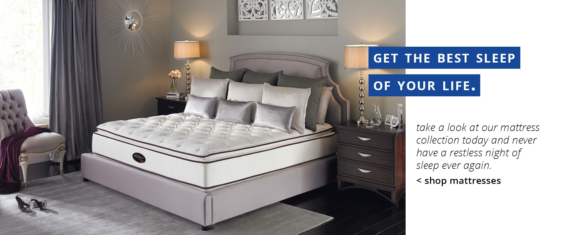 Get the best sleep of your life. Shop Mattresses