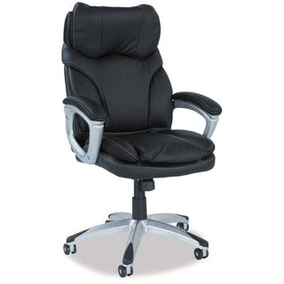 Picture of Grey Leather Look Office Chair