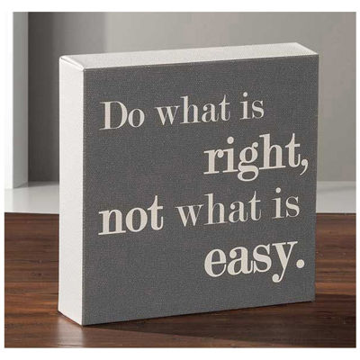 Picture of Do What Is Right 6x6 Message Cube