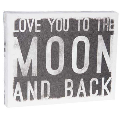 Picture of To The Moon 10x8 Message Cube