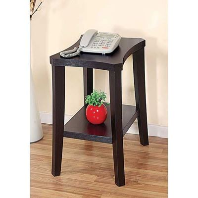 Picture of Chairside Table With Shelf