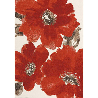Picture of Explosive Red Flowers 8x10 Rug