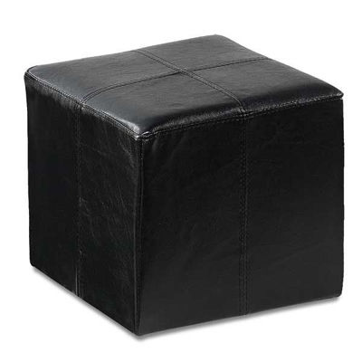 Picture of Rubic Black Durahide Cube Ottoman