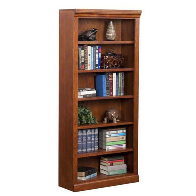 Picture of Burnish Oak Bookcase, 5 Shelf