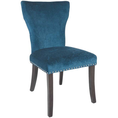 Picture of Wing Parson Chair Ocean Fabric
