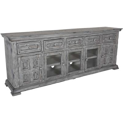 """Picture of Grey Isabella 82"""" TV Console"""