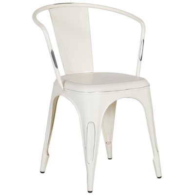 Picture of Vintage White Retro Cafe Arm Chair