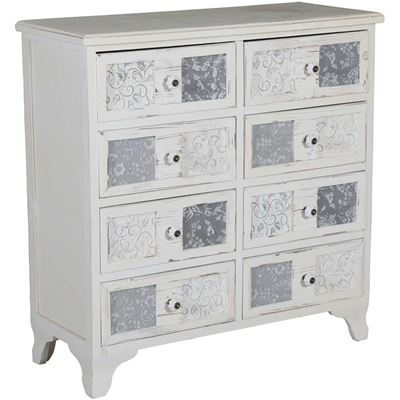 Picture of Stamped Insert 8-Drawer Chest