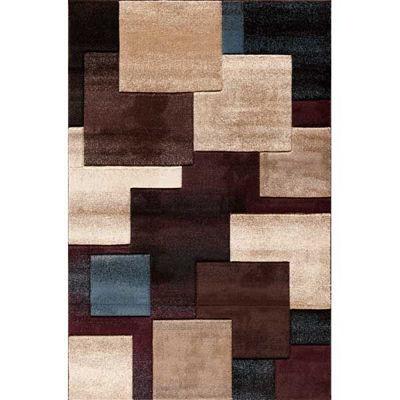 Picture of Pinnacle Strie Blocks Black/Mult 8x10 Rug