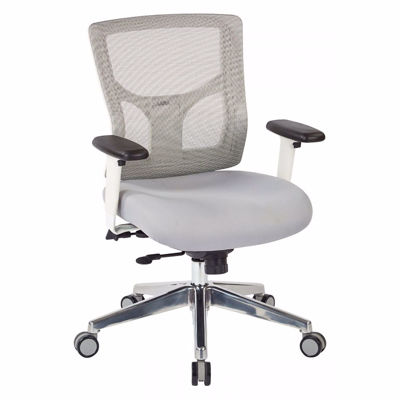 Picture of Progrid White Mesh Off Chair 95673 *D