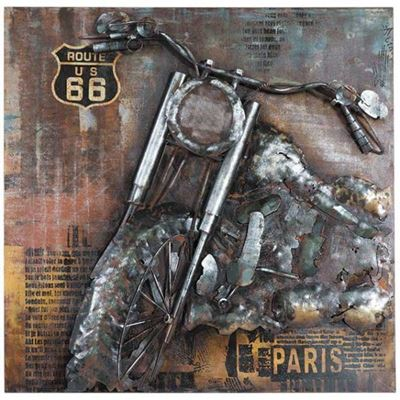 Picture of Metal Motorcycle Wall Decor