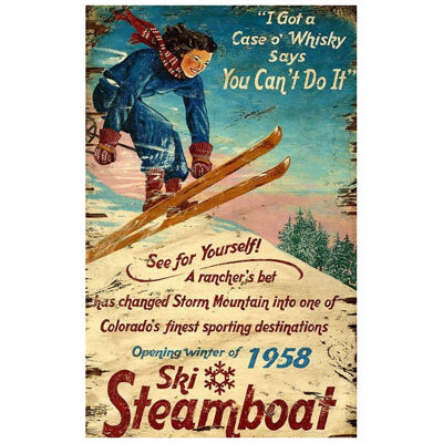 Picture of Ski Steamboat Wood Wall Art