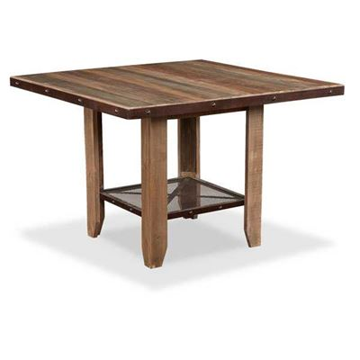 Picture of Antique Counter Height Table