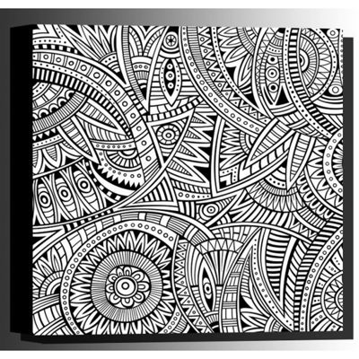 Picture of Color Your Own Canvas-Ethnic 16x16 *D