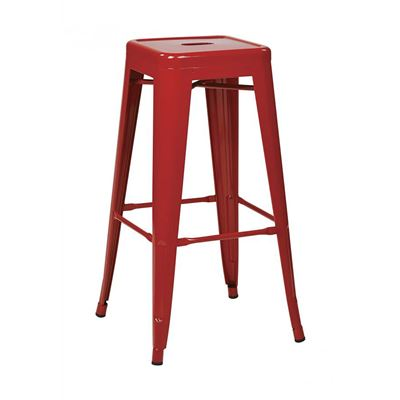 Picture of 30-Inch Mtl Red Backless Stool, 4-Pack *D