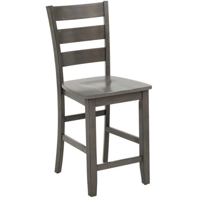 Picture of Earl Grey Wood Counter Height Barstool