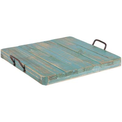 Picture of Vintage Tray With Handles Blue