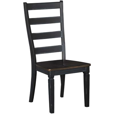 Picture of Glennwood Two-Tone Side Chair in Black/Charcoal