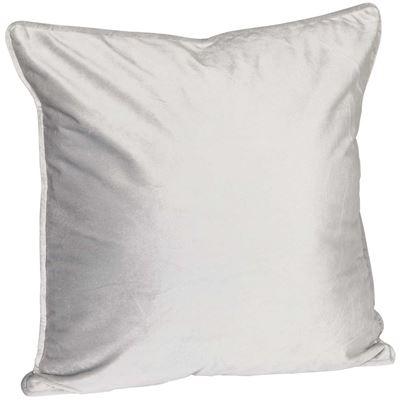 Picture of 18X18 Grey Velvet Decorative Pillow