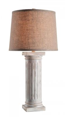 Picture of Doric Antique White Table Lamp