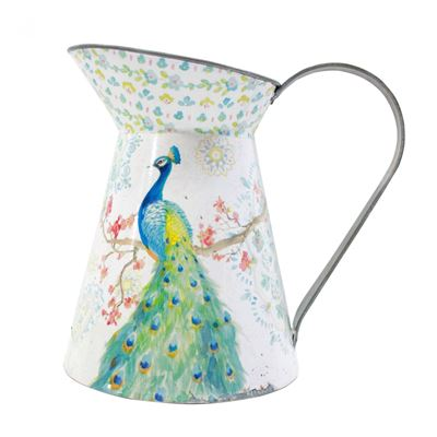 Picture of Peacock White Pitcher