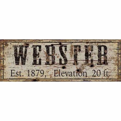 Picture of Webster Established Wood Sign