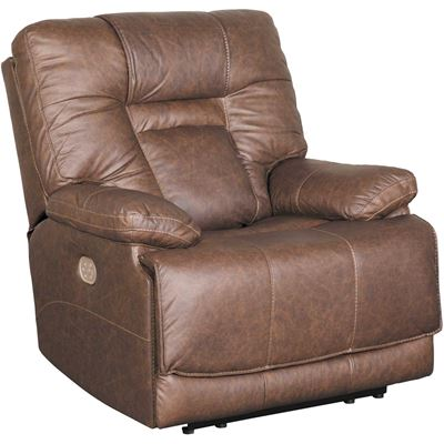Picture of Wurstrow Umber Italian Leather Power Recliner