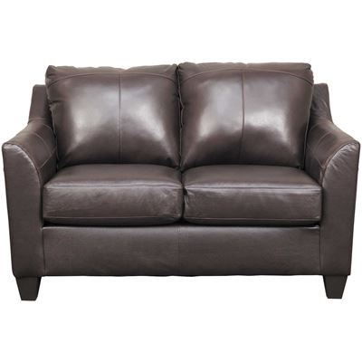 Picture of Declan Bark Leather Loveseat