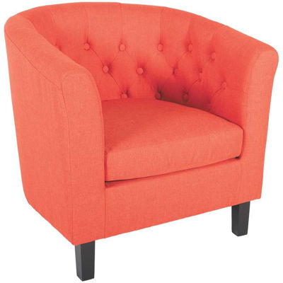 Picture of Mallory Orange Tufted Tub Chair