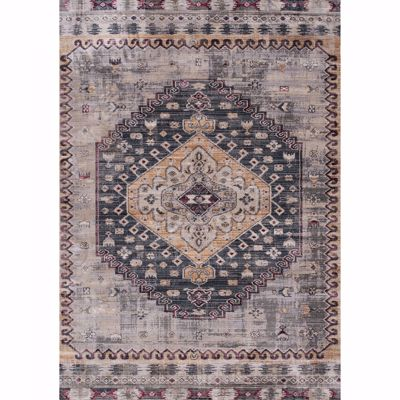 Picture of Ivory Blue Yellow Traditional 5x8 Rug