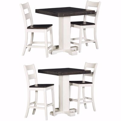 Picture of Bourbon Two-Tone 3 Piece Dining Set