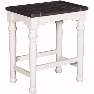 """Picture of Bourbon Country 24""""Height Barstool Wood Seat"""