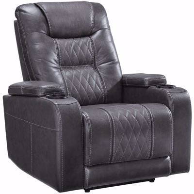 Picture of Composer Gray Power Recliner with Adjustable Headrest