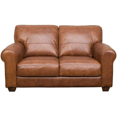 Picture of Whisky Italian All Leather Loveseat