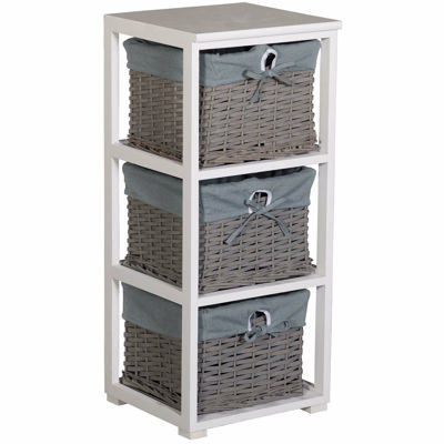 Picture of Gray Basket Accent Storage Tower