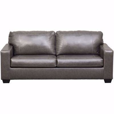 Picture of Morelos Gray Italian Leather Sofa