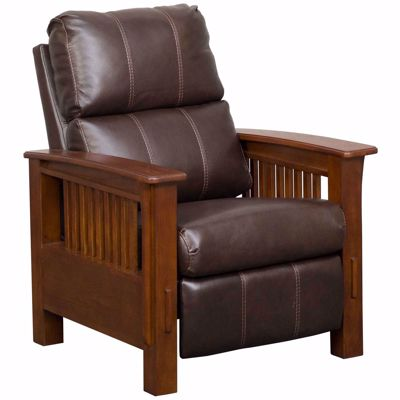 Picture of Cowlitz Leather Hi Leg Pushback Recliner