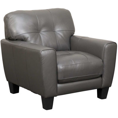 Picture of Aria Gray Leather Chair