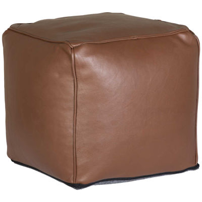 Picture of Bennet Leather Pouf *P