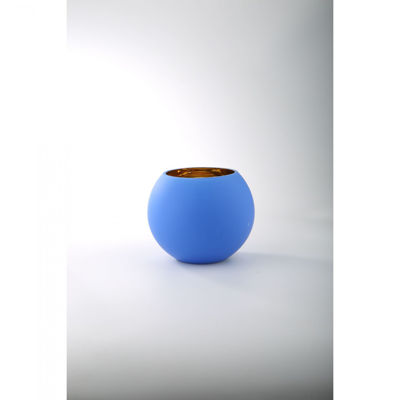 Picture of Blue With Gold Interior Vase