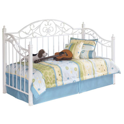 Picture of White Metal Daybed with Link spring