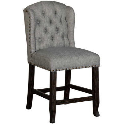 """Picture of Dusky 24"""" Upholstered Tufted Barstool"""